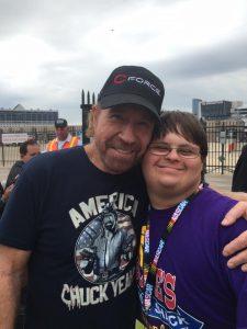 Blake and Chuck Norris